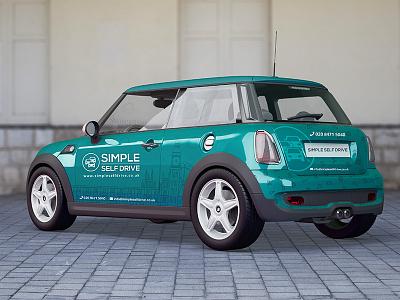 car branding vector illustration mockup branding