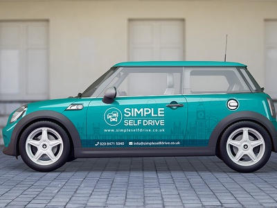 car branding vector mockup illustration branding