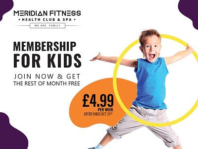 kids gym illustration ui design