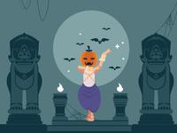 Khmer Apsara Pumpkin Halloween Character