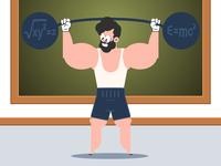 Mathematics exercices Cartoon character