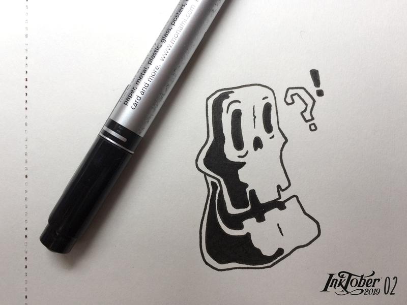INKTOBER 2019-02-MINDLESS sketchbook sketch mindless illustraion art artwork skeleton inktober2019 inktober ink