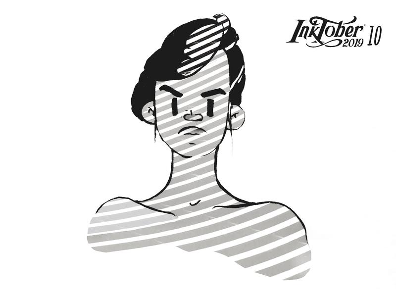 INKTOKER 2019 / Day 10 - Pattern cartoon comics illustration shadow pattern sketchbook sketch woman character drawing draw inktober inktober2019 ink