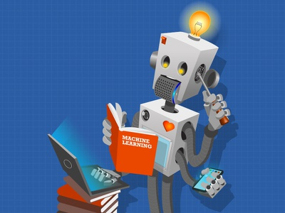 Robot illustration machine learning illustrator robot cover illustration illustration