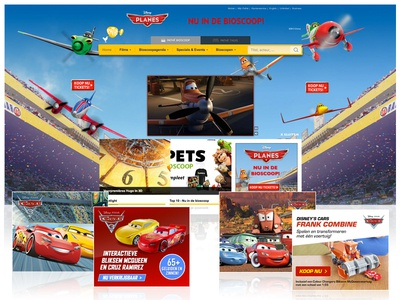 Homepage Takeover/Bannering - Disney Pixar | Mattel design homepage take over hpto banners