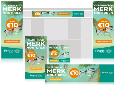 Pearle Homepage Takeover + bannering rich media design banners pearle