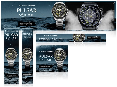 Seiko Pulsar advertisement seiko rich media design banners