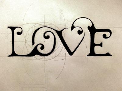 Love sketch lettering by rafael branco dribbble altavistaventures Image collections