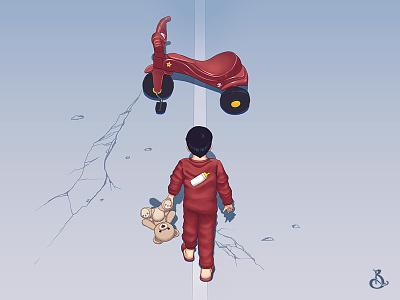 Akira Baby Digital Version japan kid animation otaku manga illustration anime boy akira