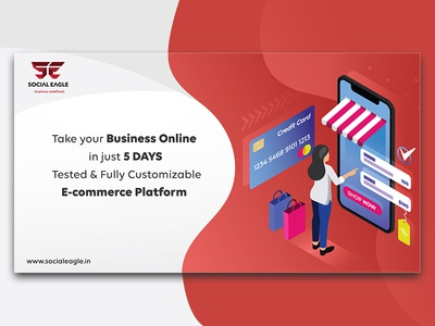 Social eagle-Business Landing page