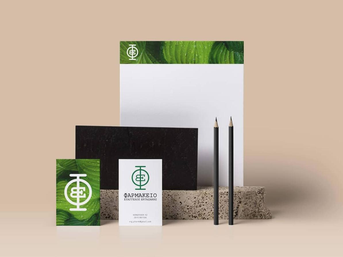Pharmacy Logo for EΒ typogaphy green nature brand identity logotype logo pharmacy