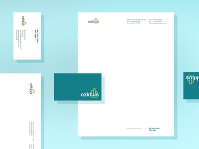 Letterhead + business card