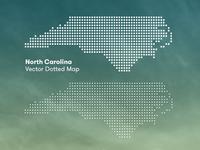 North Carolina Dotted Map (Freebie)