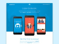 Soundcheck app landing page