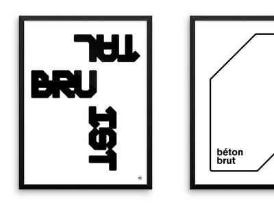 Brutalist posters