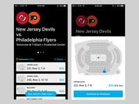 Sports tickets app