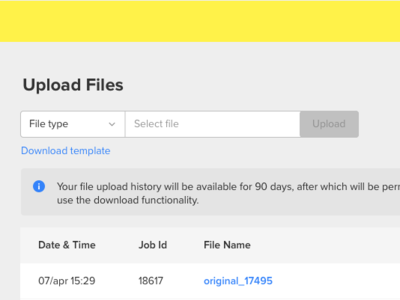 Upload Files select file uploader