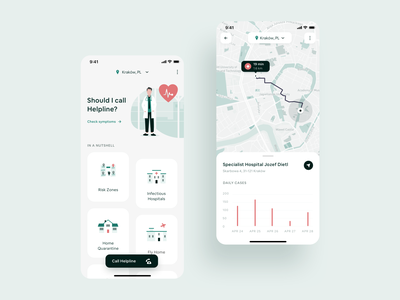 COVID-19 Local App mobile app design local business healthcare health app tracking app virus medicine app medical app cards design charts map mobile app ui  ux covid-19 covid19 covid corona coronavirus