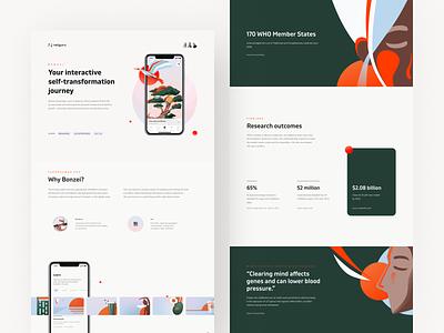 Bonzei - Branding, Illustrations and UX/UI Design emotions spirituality ux ui illustrations branding mobile app mental health awareness mental health mindfulness