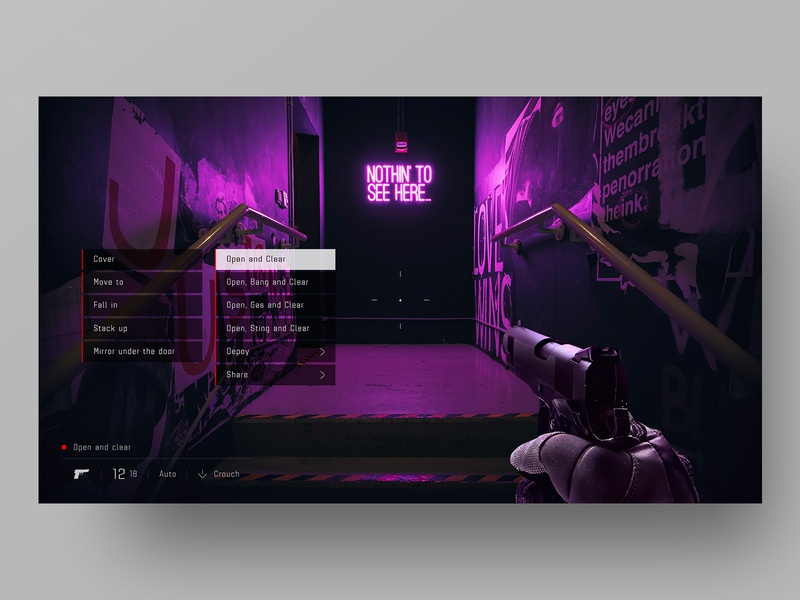 UI Concept - SWAT 4 - Command menu