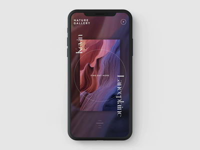 Nature Gallery mobile interaction concept