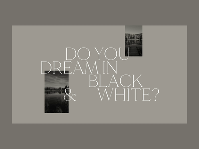 To Have And To Hold dreams nature after effects mountains gallery black and white art direction graphicdesign typography photography interaction design web animation animation website