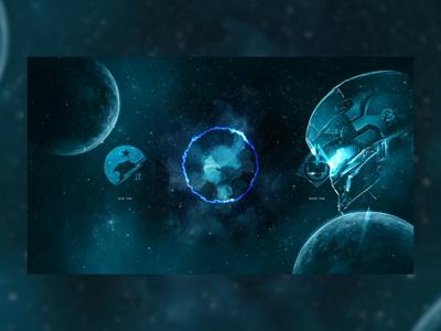 Halo concept website web animation web design dark background landscape space videogame after affects landing page web ui concept interaction design interaction animation