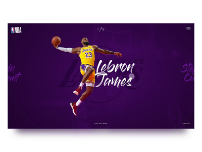 NBA concept website web animation after effects basketball sports video concept interaction design webdesign animation website