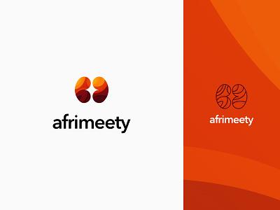 Afrimeety - Logo monogram african webdesign web vector illustration graphism branding logo design