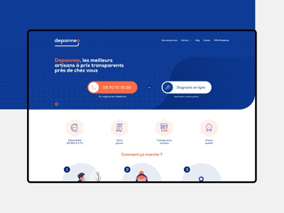Depanneo repair ui ux webdesign web graphism design