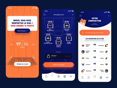 More than a game mobile sport basketball app design ux web webdesign graphic design