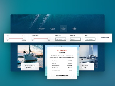 Sea & You Broker Web card ecommerce web marine design branding boat
