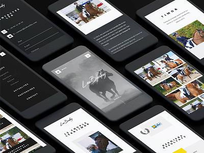 Lea Bonifay responsive mobile horse ui webdesign design