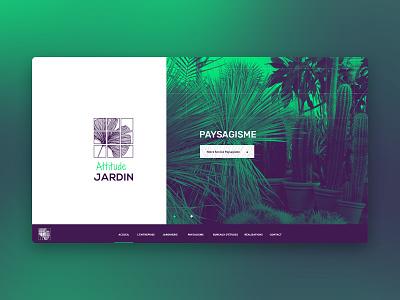 Attitude Jardin - Web design graphic design responsive design leaf green webdesign web garden
