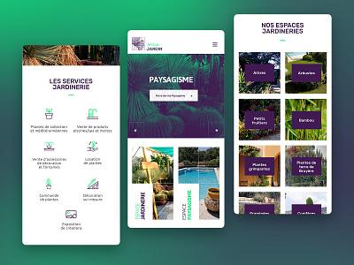 Attitude Jardin - Web design graphicdesign green responsive design mobile web center garden