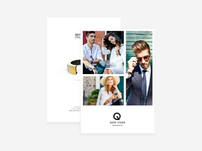 QDesign - Flyer white graphic print logo flyer