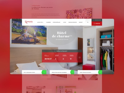 Grand hôtel Dauphiné - Website booking desktop design web hostel