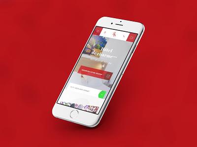 Grand Hôtel Dauphiné — Mobile adaptive responsive mobile web booking hostel design