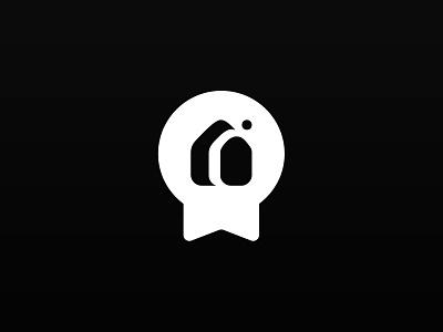Mon Courtier Immo label real estate graphism vector illustration branding logo design