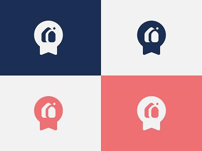Mon Courtier Immo label real estate illustration vector branding graphism logo design