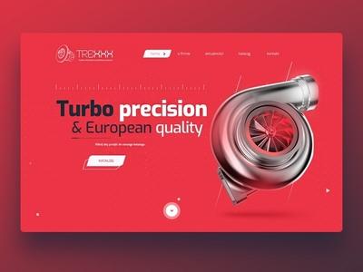 Automotive firm main page Responsive web design
