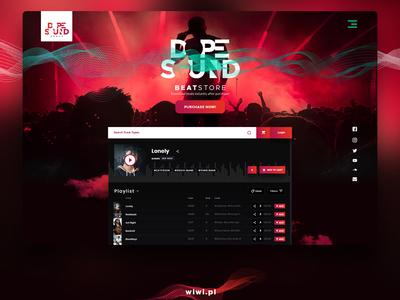 Beat store responsive web design and logo.