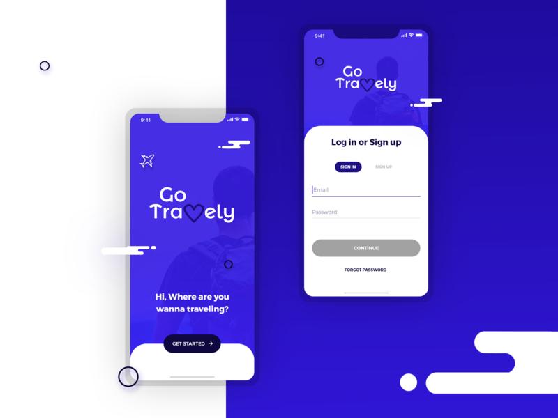 Go Travely - Travel App Design Concept mobile ux ui trip travel app mobile app design adeventure travel