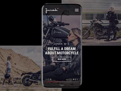 Junak Motorcycle Webdesign