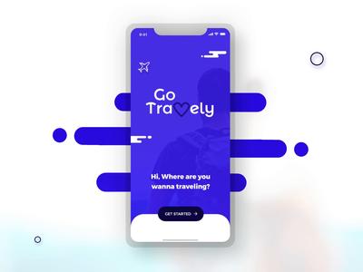 Go Travely - Travel App Login Animation
