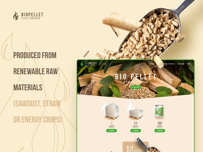 Biopellet website and shop for ecological fuel producer.