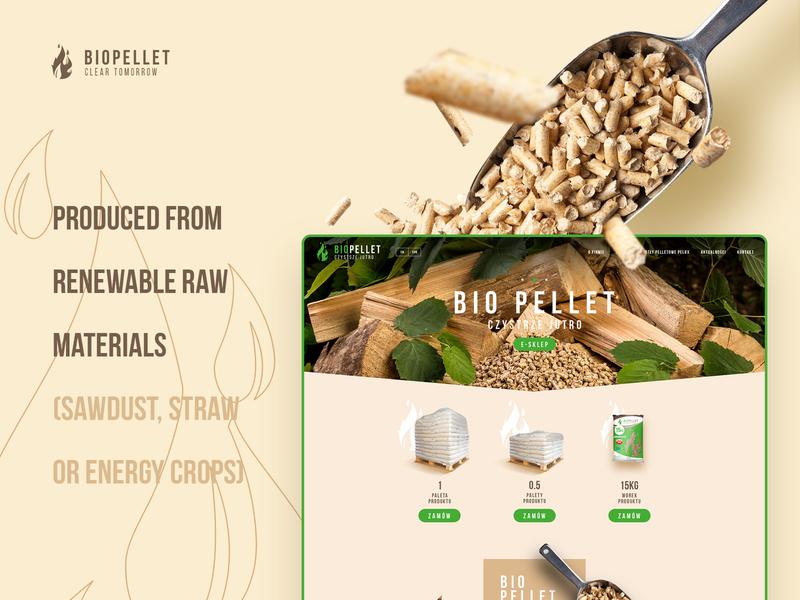 Biopellet website and shop for ecological fuel producer. branding shop fire responsive ui webdesign website bio pellet