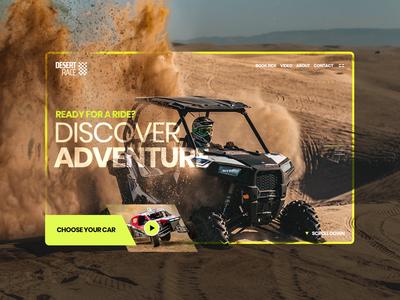 Buggy Race Desert - Website Concept