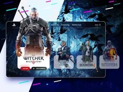 PlayStation Games Dashboard Web Design 2019