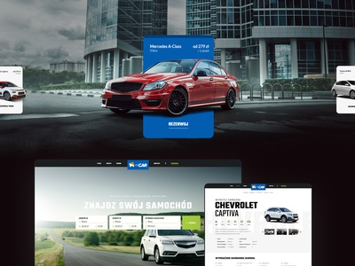 Itecar - car rental website and reservation interface